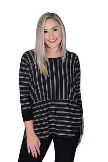 Sympli Stripe Tunic
