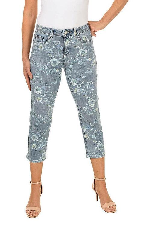 FDJ Olivia Floral Print Denim Jeans