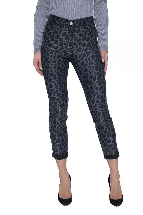 FRANK LYMAN Reversible Leopard/Black Jeans