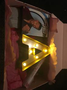 Inside of gift box