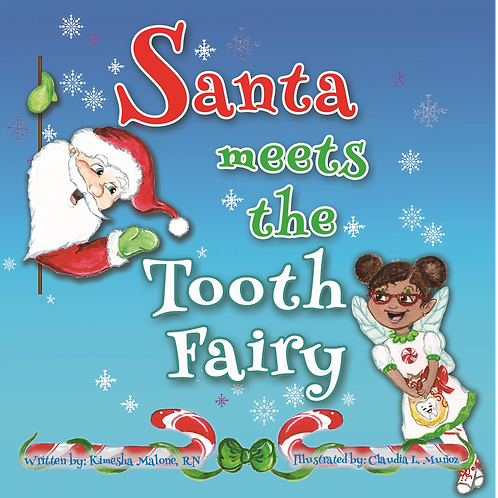 Santa Meets the Tooth Fairy hardcover book