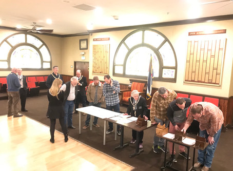 Busy Voting Night at Lodge Meeting