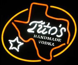 TITO's neon image
