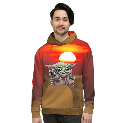 """BABY YODA """"HYPE PWEASE"""" EXCLUSIVE ANDY MCFLY Unisex Hoodie"""