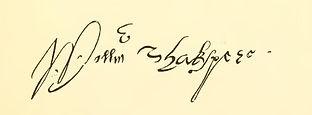 Shakespeare Tavern Signature