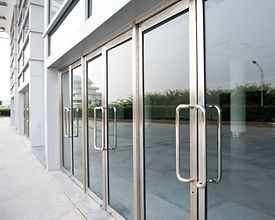glass door of the office building..jpg