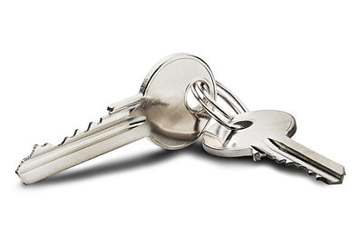 Estate concept, key ring and keys on iso