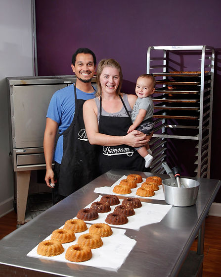 The working family at Cape Fear Rum Cake