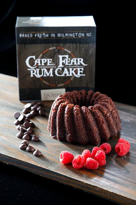 16 oz Dark Chocolate Raspberry Rum Cake