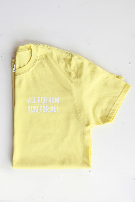 All For Rum T-shirt - Yellow