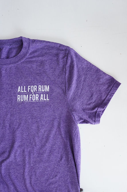 All For Rum T-shirt - Purple Heather