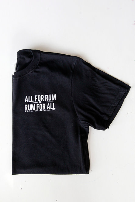 All For Rum T-shirt - Black