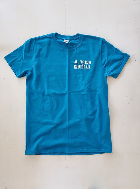 All For Rum T-shirt - Antique Sapphire