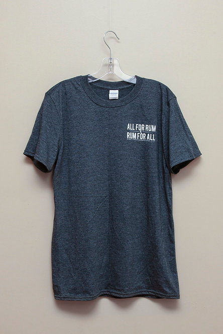 All For Rum T-shirt - Dark Gray Heather