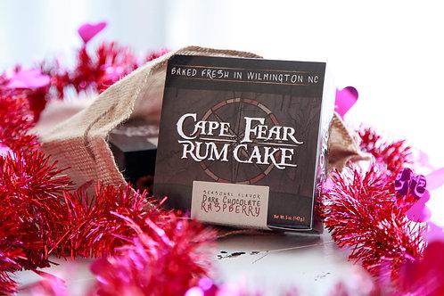 5 oz Dark Chocolate Raspberry Rum Cake