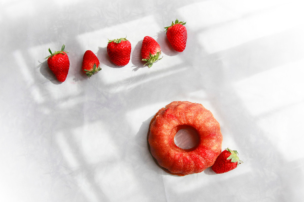 Strawberry Rum Cake - May Seasonal Flavor