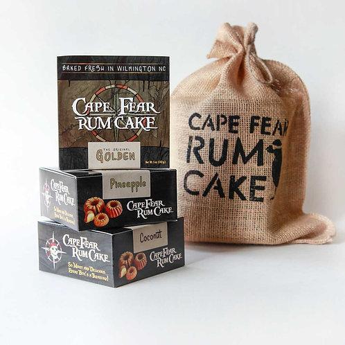 3 Pack Sampler - 5 oz rum cakes