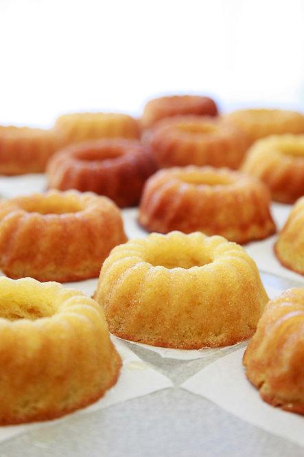 GLUTEN FREE 5 oz. Golden Vanilla Rum Cake