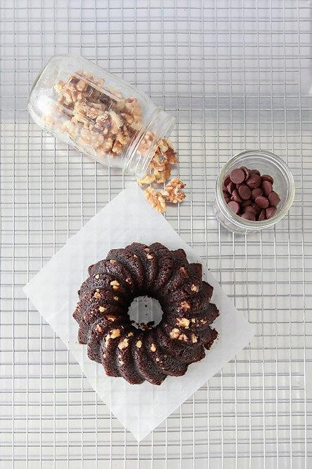 16 oz Dark Chocolate Rum Cake