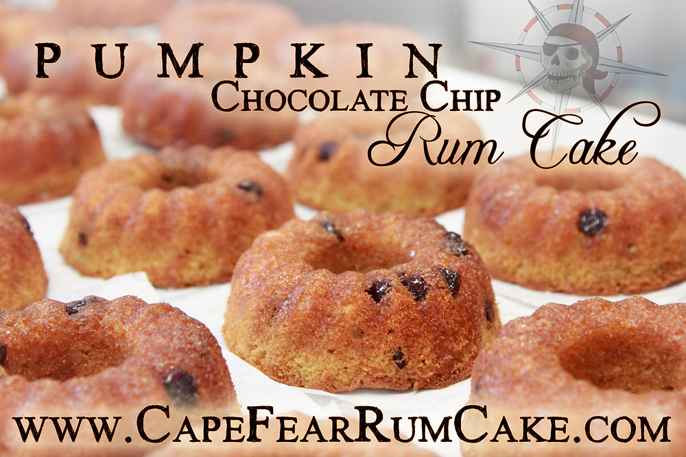 Pumpkin Chocolate Chip Rum Cake