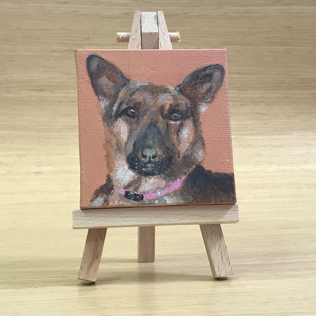 Kimberly Gray Pet Portrait Miniature, Susie Grace.