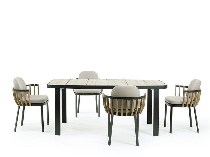 SWING by Ethimo - Rectangular dining set