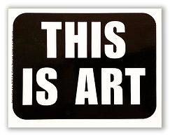 THIS IS ART® Sticker