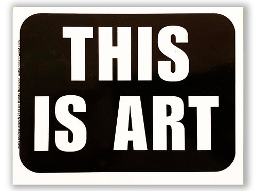 THIS IS ART® Sticker