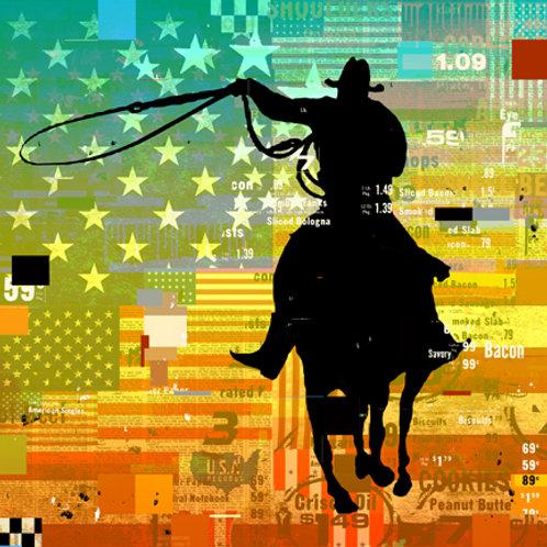 GALLUP COWBOY FLAG