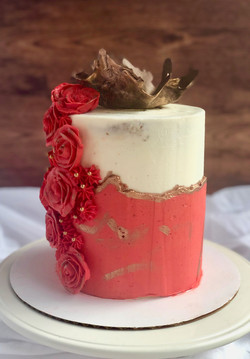 Fault Line with Buttercream Flowers