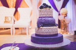 Purple Theme with Edible Roses