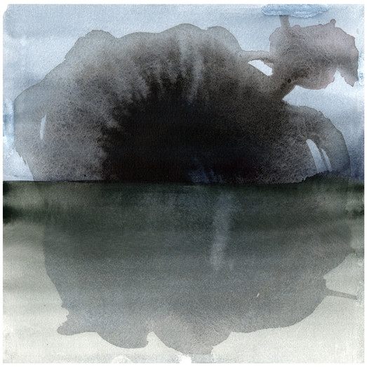 SAARI, 30x30, vesiväri paperille, 2020