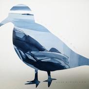 Sirri, paper cut and watercolor, 30x40cm, 2019