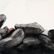 Asylum, charcoal, chalk, 70x54cm, 2012
