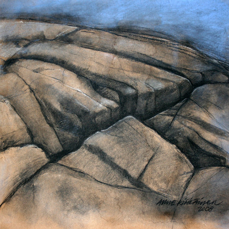 Kallo1, carbon and chalk, 50x50cm, 2008