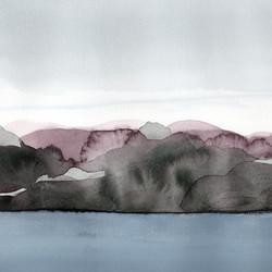 Hellsö bay, 28x30cm, 2020, watercolor