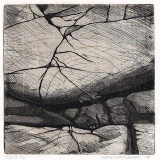 Taivas ja meri, etsausakvatinta, 25x25cm, 2008