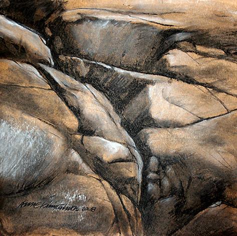 Kallo2, hiili ja liitu, 50x50cm, 2008