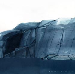 Grönvik 3, 30x40 cm, vesiväri, 2019