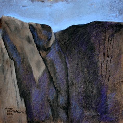 Kallo3, hiili ja liitu, 50x50cm, 2008
