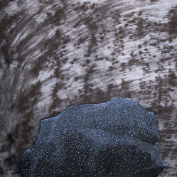 Wish stone, 42x59cm, charcoal and tempera, 2014