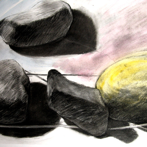 Always We've Been Like That, charcoal, Watercolor, 60x52cm, 2008