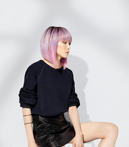 Pink graduated bob by Loreal