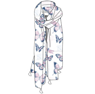CAD for Butterfly Scarf
