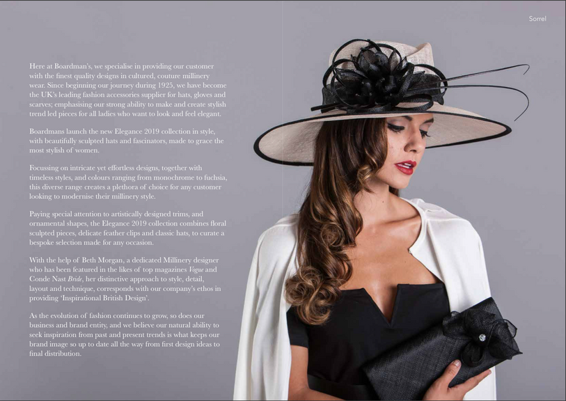 Write up for the Elegance 2019 Collection Brochure