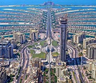 Palm Jumeirah Dubai Aerial View