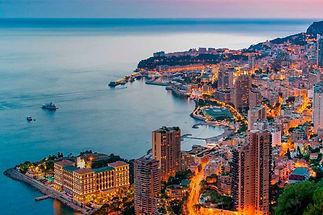 Montecarlo Sunset Aerial View