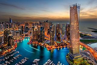 The beauty of Dubai marina just from the