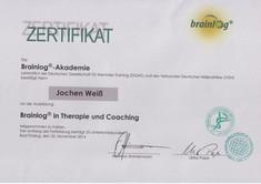 Brainlog Zertifikat Jojo Weiss