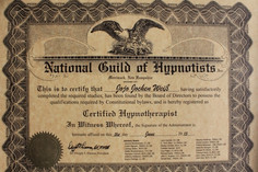 National Guild of Hypnotists Certificati